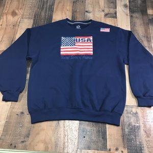 American Flag Sweater Stars Stripes USA Large Used